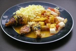 Curryreis mit Huhn